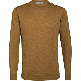 Icebreaker Shearer Crewe Sweater Herre saffron heather